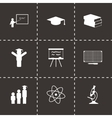 black education icons set vector image vector image