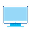 blue icon tv cartoon vector image vector image