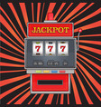 bright on jackpot theme red vector image
