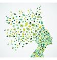 Collaborative Ecology Woman head concept vector image vector image