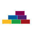 colorful cargo shipping containers in flat style vector image vector image