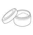 cream containers out line vector image vector image