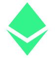 crystal flat icon symbol vector image