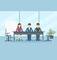 design of business office environment vector image vector image