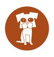 dog comic character icon vector image