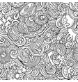 donuts hand drawn doodles seamless pattern vector image