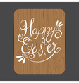 easter wooden card vector image vector image
