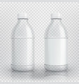 empty realistic plastic bottle vector image