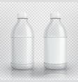empty realistic plastic bottle vector image vector image
