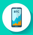 exchange cryptocurrency in phone mobile vector image