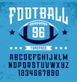 football font alphabet with latin letters vector image vector image