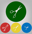 hair cutting scissors sign 4 white styles vector image vector image