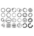 hand drawn round frames circles set sketch vector image vector image