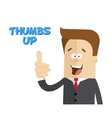 Happy businessman or manager Sign thumbs up vector image vector image