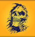 horror scary grim reaper isolated vector image vector image