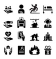 insurance business icons vector image