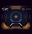 interface ui design graphic hud vector image vector image