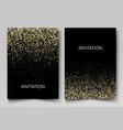 invitation template with gold glitter confetti vector image vector image