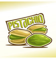 logo for pistachio nuts vector image vector image