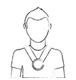 man with winner medal character vector image vector image