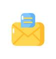 message app flat color icon vector image