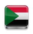 Metal icon of Sudan vector image vector image