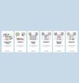 mobile app onboarding screens school education vector image vector image