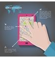 Mobile navigation concept vector image