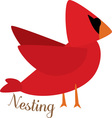Nesting Cardinal vector image vector image