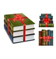new book with bow vector image vector image
