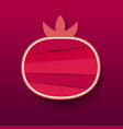 paper pomegranate fruit red vector image