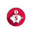 Piggy bank money icon vector image