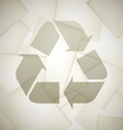 Recycled crumpled paper vector image vector image