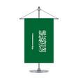 saudi arabian flag on the metallic cross pole vector image