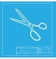 Scissors sign White section of icon vector image