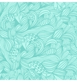 seamless pattern with abstract blue floral vector image vector image
