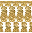 seamless pattern with pineapples graphic stylized vector image vector image