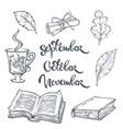 september october nowember autumn mood vector image vector image