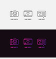 set icons for social networks like mark vector image