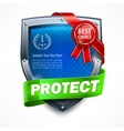 Shield with ribbon award vector image