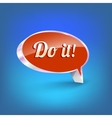Shiny speech bubble vector image vector image