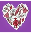 Sweet candies heart vector image