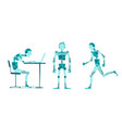 the robot stand sitting running cyborg manager vector image
