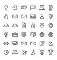 thin line business and commercial icon set vector image
