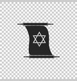 torah scroll icon on transparent background vector image vector image