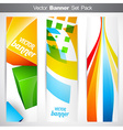 vertical headers vector image vector image