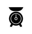 weight kitchen icon black vector image