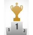 Winner podium vector image vector image