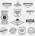 Woodworking badges logos and labels for any use vector image