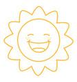 coloring page of cartoon sun vector image